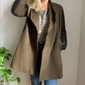 Rebecca Minkoff oversized coat jacket xs olive